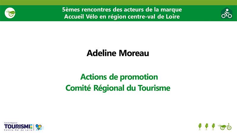 Actions de promotion - Adeline Moreau