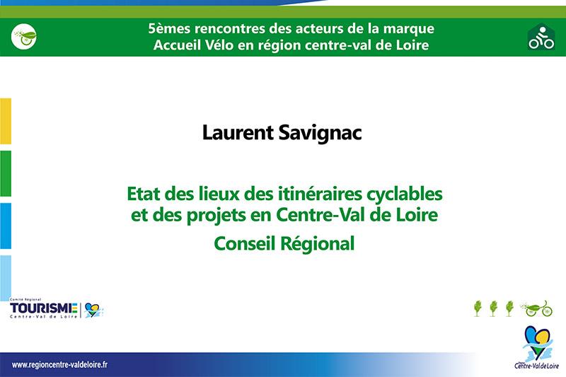 Etat des lieux des itinéraires cyclables et des projets en Centre-Val de Loire-Laurent Savignac