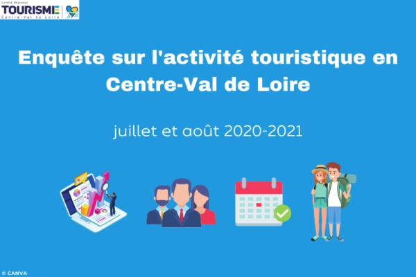 Enquête sur l'activité touristique de juillet et août en Centre-Val de Loire - 2021
