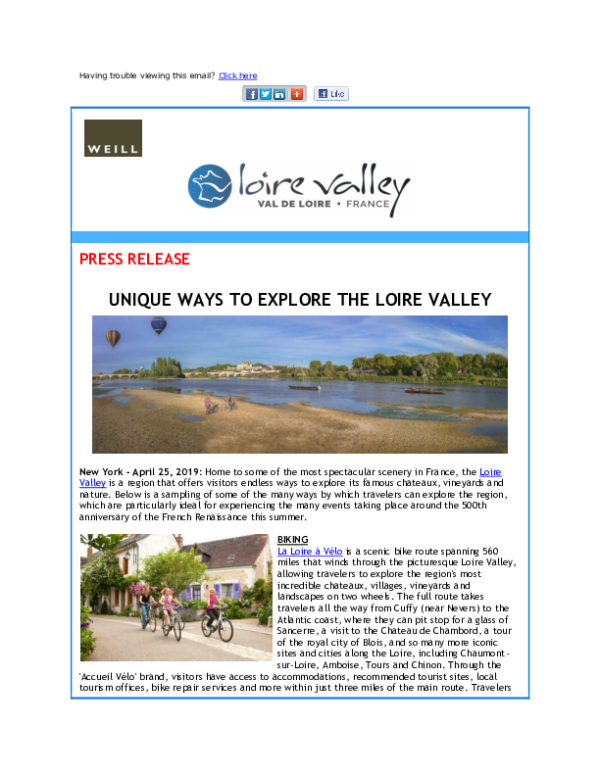 Unique Ways to Explore The Loire Valley