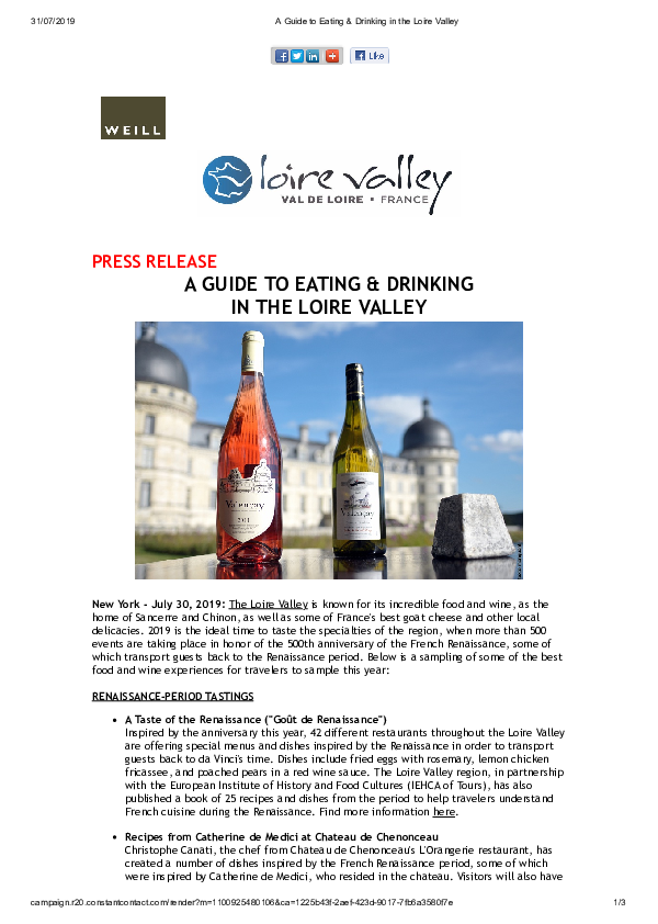 A Guide to Eating & Drinking in the Loire Valley
