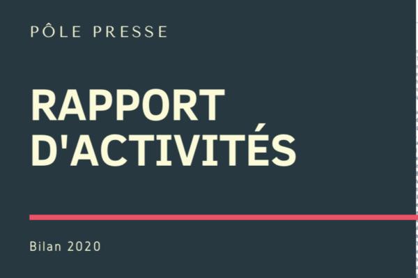 Bilan des activités presse 2020