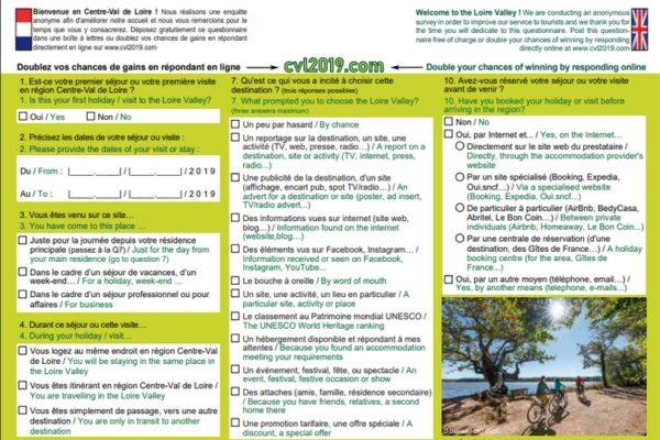 Méthodologie, questionnaire et liste des sites participants de l