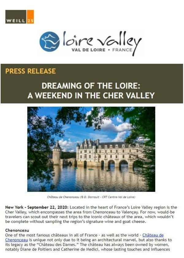 Dreaming of the Loire Valley - A weekend in the Cher Valley